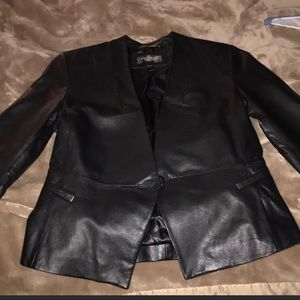 Victoria Secret Blazer! Black leather. Size 4